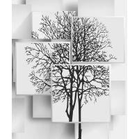 """Фотообои 3D """"Деревья в стиле Модерн"""", песок, 2х2,4м"""
