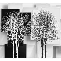 """Фотообои 3D """"Деревья в стиле Модерн"""", песок, 3х2,7м"""