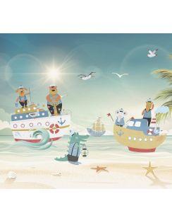 """Фотообои 3D """"Морские приключения"""", песок, 3х2,7м"""
