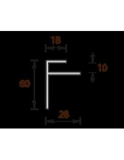 """Профиль конечный угловой """"F"""" для панелей 10мм, 3,0м, белый"""