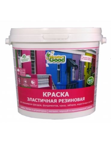 Краска резиновая Neomid Master, эластичная, вишня RAL3005, 2,4кг
