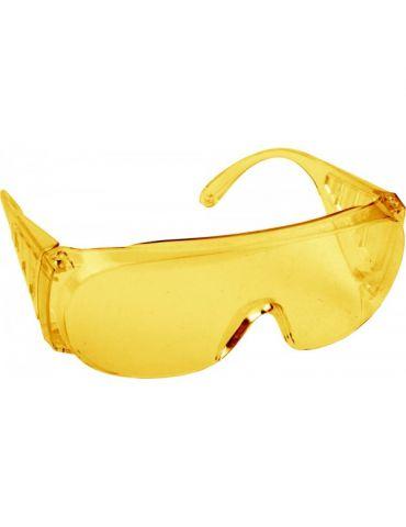 Очки DEXX защитные, поликарбонат монолинза, желтые