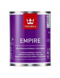 Краска Tikkurila Empire алкидная для мебели, база С, 0,9л, полуматовая
