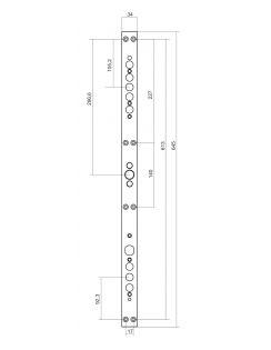 """Замковая система """"Бордер MAXIMA+"""" с задвижкой, ЗВ4-3/85М, ЗВ8-8К5, з-60Б"""