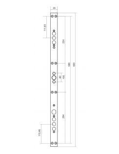 "Замковая система ""Бордер Grand+"" с задвижкой, ЗВ9-8Г, ЗВ1-8Г, ЗДЗ-01"