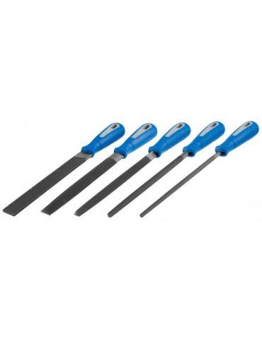 Набор напильников с ручкой №2, 200мм.