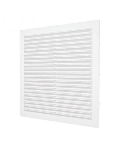 Решетка вентиляционная ЭРА с сеткой, 194х194мм, пластик