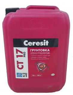 Грунтовка CERESIT CT 17 PRO глубокого проникновения для наружных и внутренних работ, 10л