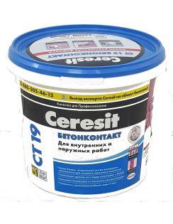 Бетон-контакт CERESIT CT 19  для наружных и внутренних работ, розовый, 5кг