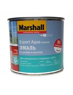Эмаль MARSHALL Export Aqua Enamel универсальная, глянцевая, белая, 0,5л