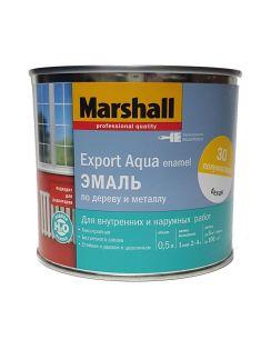 Эмаль MARSHALL Export Aqua Enamel универсальная, полуматовая, белая, 0,5л