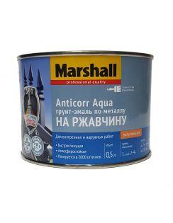 Грунт-эмаль MARSHALL Anticorr Aqua антикоррозийная, акриловая, полуглянцевая, база ВW, 0,5л