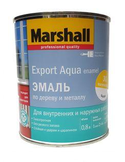 Эмаль MARSHALL Export Aqua Enamel универсальная, полуматовая, белая, 0,8л