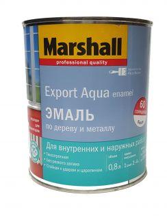 Эмаль MARSHALL Export Aqua Enamel универсальная, глянцевая, белая, 0,8л