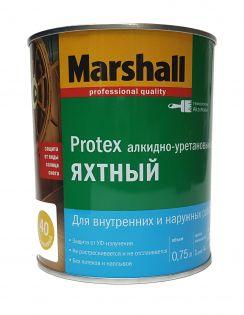 Лак MARSHALL Protex яхтный, алкидно-уретановый, полуматовый 40, 0,75л