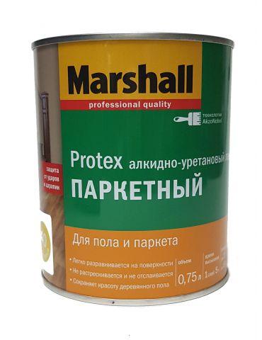 Лак MARSHALL Protex паркетный, алкидно-уретановый, полуматовый 40, 0,75л