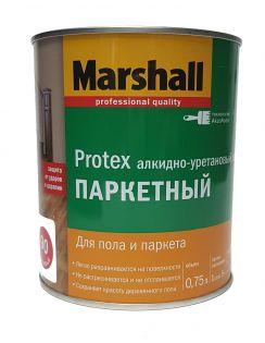 Лак MARSHALL Protex паркетный, алкидно-уретановый, глянцевый 90, 0,75л