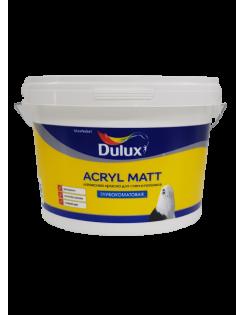 Краска DULUX ACRYL MATT латексная для стен и потолков, глубокоматовая, база BW 9л