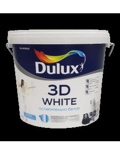 Краска DULUX 3D WHITE для стен и потолков, ослепительно белая, матовая, база BW 5л