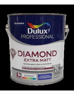 Краска DULUX DIAMOND Extra Matt для стен и потолков, глубокоматовая, база BW 2,5л
