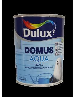 Краска DULUX DOMUS AQUA водорастворимая для деревянных фасадов, полуматовая, база BW 1л