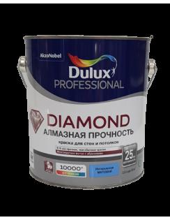 Краска DULUX DIAMOND алмазная прочность для стен и потолков, износостойкая, матовая,база BС 2,25л