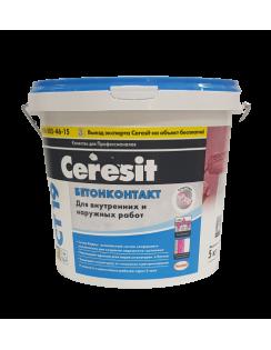Бетон-контакт CERESIT CT 19  ЗИМА для наружных и внутренних работ, розовый, 5кг