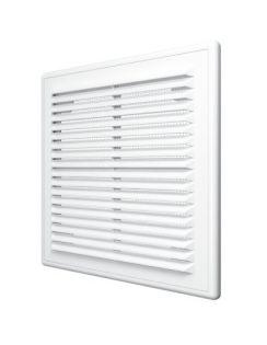 Решетка вентиляционная ЭРА разъемная с сеткой, 249х249мм, пластик
