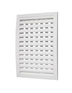 Решетка вентиляционная ЭРА регулируемая, 200х300мм, пластик