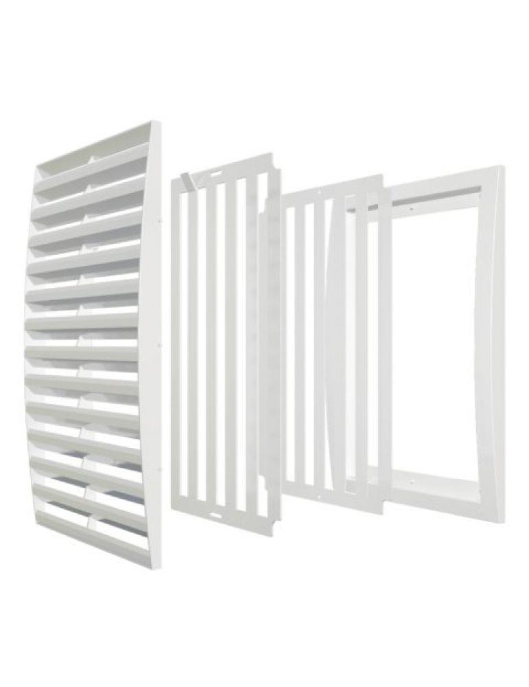 Решетка вентиляционная ЭРА регулируемая, 250х250мм, пластик
