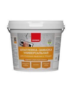 Шпатлевка-замазка Neomid для выбоин и трещин, 1,4кг