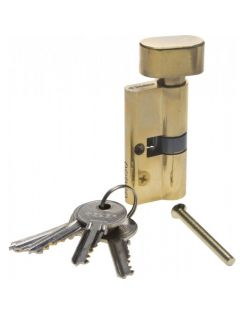 Личинка ЗУБР ключ-защелка, 5PIN, 60мм, латунь