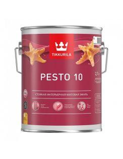 Краска Tikkurila Pesto 10 алкидная интерьерная, база С, 0,9л, матовая