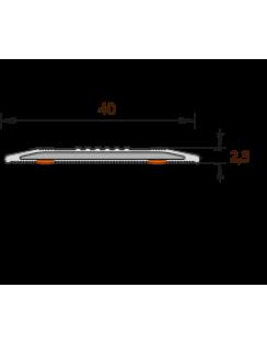 Лента антискользящая Идеал, напольная, 40мм, 0,9м, темно-серый