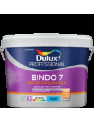 Краска DULUX BINDO 7 для стен и потолков, экстрапрочная, матовая, база BC 0.9л