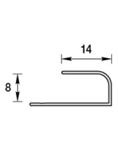 """Профиль """"L"""" для панелей 8мм, 3,0м """"Идеал Ламини"""" травертин бежевый"""