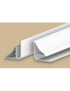 """Плинтус потолочный для панелей, 8мм, 3,0м """"Идеал Ламини"""", белый глянцевый"""