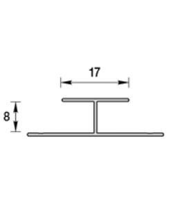 """Профиль стыковочный для панелей 8мм, 3,0м """"Идеал Ламини"""" белый глянцевый"""