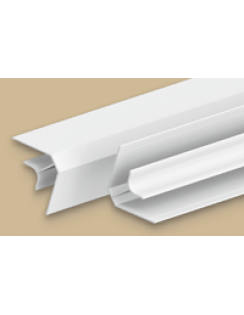 """Угол внутренний для панелей 8мм, 3,0м """"Идеал Ламини"""" белый глянцевый"""