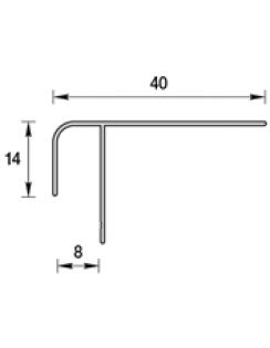 """Профиль """"F"""" для панелей 8мм, 3,0м """"Идеал Ламини"""" белый глянцевый"""