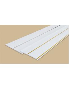 """Панель потолочная """"Идеал Ламини"""", 0,25х3м, белая с серебром"""