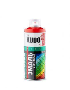 Краска аэрозольная KUDO сатин, темно-серая RAL7011, 520 мл