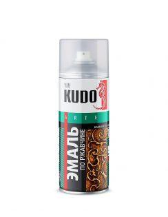 Краска аэрозольная KUDO молотковая по ржавчине, серебристо-черная, 520 мл