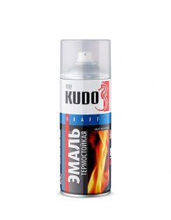 Краска аэрозольная KUDO термостойкая, золотая, 520 мл