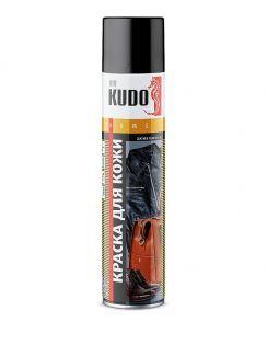 Краска аэрозольная KUDO для гладкой кожи, черная, 400 мл