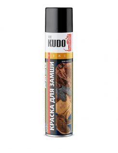 Краска аэрозольная KUDO для замши и нубука, коричневая, 400 мл