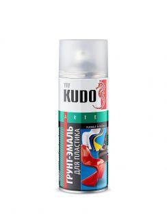Грунт-эмаль KUDO для пластика, аэрозоль, черная RAL9005, 520мл