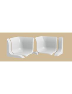 Набор комплектующих для универсального бордюра на ванну, белый глянцевый