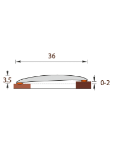 Порог Идеал Изи, 36мм, 0,9м, дуб коньячный