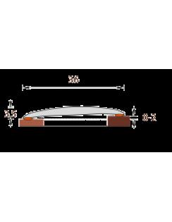 Порог Идеал Изи, 36мм, 0,9м, ясень серый